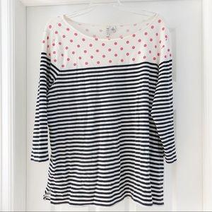Elle T-shirt with Stripes & Polka Dots Size XL